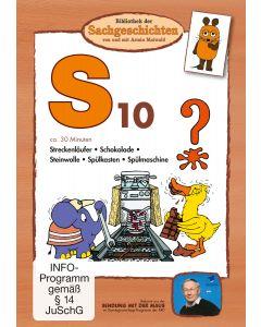 S10: Schokolade/ Spülkasten/ Spülmaschine/ Streckenläufer/ Steinwolle